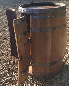 Solid Oak Wine Barrel Cabinet Varnished | Tubs| Patio Tables | Garden Furniture | eBay