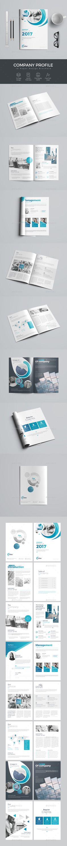 The Company Profile - #Corporate #Brochures Download here: https://graphicriver.net/item/the-company-profile/19719733?ref=alena994