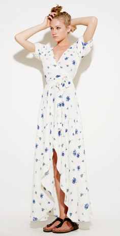 crazy pretty floral maxi dress... now if I were only taller... the loch ness dress from reformation...