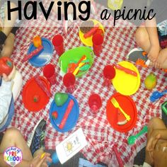 Camping Dramatic Play: How to set it up in your preschool, pre-k, tk, and kindergarten classroom Picnic Activities, Summer Preschool Activities, Preschool Centers, Preschool Themes, Preschool Crafts, Preschool Lessons, Preschool Learning, Teaching Art, Picnic Theme