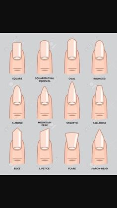 Format nail tip shapes, gel nails shape, nail shapes squoval, dif Acrylic Nail Shapes, Best Acrylic Nails, Nail Shapes Squoval, Nail Tip Shapes, Squoval Acrylic Nails, Types Of Nails Shapes, Dope Nails, Fun Nails, Acrillic Nails