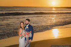 Sunset beach photography, beach wedding photo inspiration