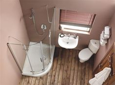 Like the corner toilet.  Great for small space.