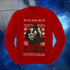 Star Wars Ugly Christmas Sweater Style Sweatshirt  I Find Your Lack Of Cheer Disturbing Darth Vader Red May The Force Be With You