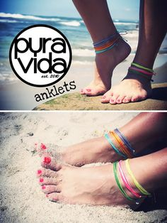 Pura Vida anklets! ...and of course, bracelets!!!!