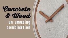 Concrete and Wooden clocks at www.nextimestore.com