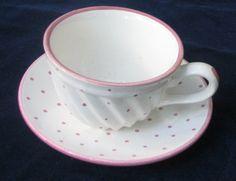 Pink Dot Cup & Saucer by Gmundner Keramik