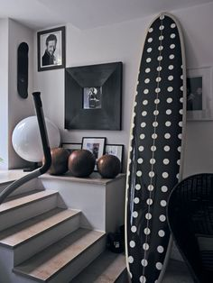 polka dot surfboard storage