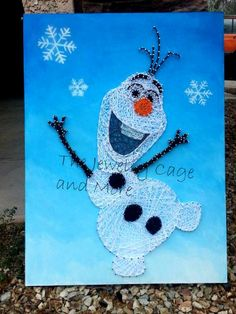 24 X 18 inches Olaf the snowman from Frozen by ThejewelryCage