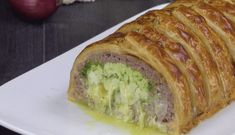 Wrap spaghetti in ground beef for a delicious meal you'll want to make again and again Beef Recipes For Dinner, Ground Beef Recipes, Raw Food Recipes, Meat Recipes, Food Network Recipes, Cooking Recipes, Meatloaf Recipes, Hamburger Dishes, Beef Dishes