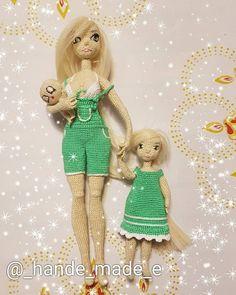 Crochet Dolls Free Patterns, Crochet Doll Pattern, Crochet Art, Cute Crochet, Monster High School, Yarn Dolls, Dress Up Dolls, Princess Zelda, Disney Princess