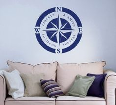 Logo Sign Compass Rose Bathroom Nautical Anchor Sea Ocean Wall Vinyl Decal Art Sticker Home Modern Stylish Interior Decor for Any Room Smooth and Flat Surfaces Housewares Murals Graphic Bedroom Living Room (2476) stickergraphics http://www.amazon.com/dp/B00IEDIQUG/ref=cm_sw_r_pi_dp_vHDTtb0GS915DW88