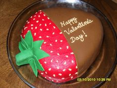 Chocolate covered Strawberry cake for Valentine's Day