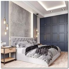 Discover the ultimate master bedroom styles and inspiration - Furnishing - Be .Discover the ultimate in master bedroom styles and inspiration - Furnishing - Be ., The Furniture Discover InspirateAwesome Master Bedroom Ideas Purple Everything Luxury Bedroom Design, Master Bedroom Design, Home Decor Bedroom, Home Interior Design, Wardrobe Design Bedroom, Modern Master Bedroom, Modern Luxury Bedroom, Master Suite, Modern Bedroom Lighting