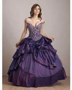BallGown Off-the-shoulder Taffeta Floor-length Purple Quinceanera Dress at sweetquinceaneradress.com