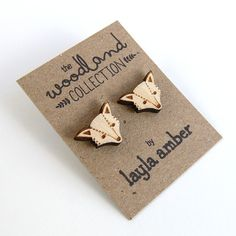 Layla Amber - Fox earrings - My latest etsy purchase. LOVE them. :)