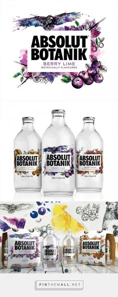 Absolut Botanik vodka by Bold Inc. Source: BP&O. Pin curated by #SFields99 #packaging #design