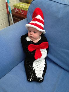 Cat in the Hat Cocoon & Top Hat by LoopyChains on Etsy, £35.00