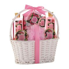 Bath and Body Vintage Damask Rose Scent Gift Basket
