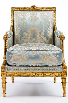 Armchair, by Georges Jacob, about 1785, France (Paris), gilded walnut with modern upholstery. Museum no. 1063-1882, © Victoria and Albert Museum, London