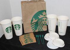 Starbucks Reusable Plastic Grande Coffee Tea Cup Mug Set of 4 16oz Tumbler #Starbucks