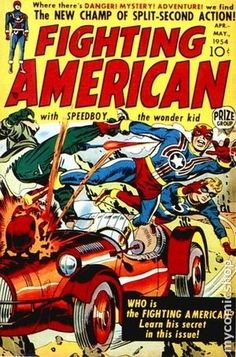 FIGHTING AMERICAN SIMON & KIRBY GOLDEN AGE PRIZE COMICS