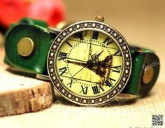 Women Wristwatches Leather Eiffel T..
