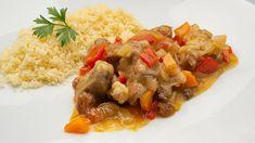 Cocina Abierta - Recetas de cocina de Karlos Arguiñano y postres de Eva Arguiñano Carne, Pork, Rice, Beef, Ethnic Recipes, Lamb Curry, Cooking Recipes, Plate, Deserts