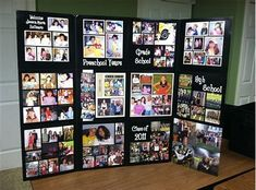Fun and Cool Graduation Party Ideas for High School Middle School. Cool Graduation Party Ideas for High School Middle School. School graduation parties are identical with prom night. But if the prom event can't be hel. Graduation Photo Displays, Graduation Picture Boards, Graduation Open Houses, High School Graduation, Graduation Pictures, Grad Party Centerpieces, Graduation Party Planning, Graduation Celebration, Wedding Ideas