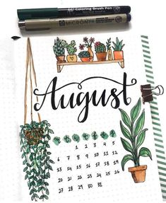 // Hello, as promised, I am back and here is the monthly spread for the month of August. Let me know what you think of this month's theme. Bullet Journal Quotes, Bullet Journal Tracker, Bullet Journal Ideas Pages, Bullet Journal Layout, Bullet Journal Inspiration, Journal Pages, Bullet Journals, Bullet Journal Washi Tape, Updo