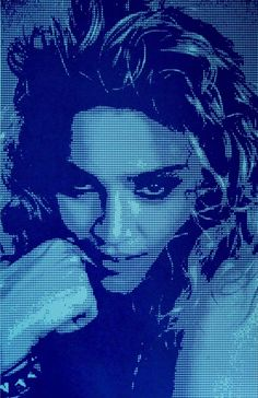 Madonna-True Blue About David Studwell I combine traditional printmaking techniques with a modern approach to create dynamic and vibrant artwork.