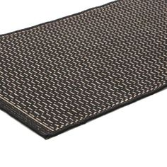 5'3 x 7'6 Saddle Stitch Area Rug in Black Cocoa for Indoor Outdoor Use