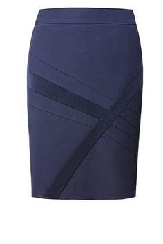 Н-378 синяя Skirt Outfits, Dress Skirt, Work Skirts, Winter Skirt, Work Attire, African Dress, Mode Style, Work Fashion, Dress Patterns