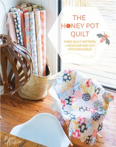 the honey pot quilt – free quilt pattern + kits available!