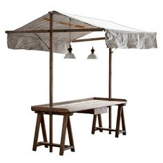 This is so cool...great for outdoor buffet table. I think I will make a portable version.