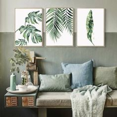 Colorful Leaf Wall Art Canvas Painting Cuadros Posters And Prints Nordic Poster Picture Wall Pictures For Living Room Unframed Leaf Wall Art, Wall Art Decor, Canvas Wall Art, Wall Art Prints, Watercolor Plants, Watercolor Leaves, Dining Room Wall Art, Living Room Decor, Living Rooms