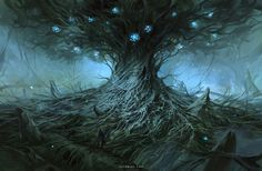 Ancient Tree, Nele Diel on ArtStation at https://www.artstation.com/artwork/BJQwA