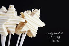 Candy-Coated Krispy Stars - Lulu the Baker