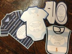 Ralph Lauren Baby Shower Thank You Cards