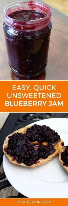 Easy unsweetened blueberry jam