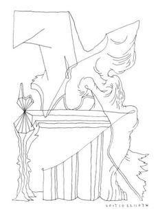 "Saatchi Art Artist Donald Lee; Drawing, ""Monument (Mind Forms Line Art - 201710221107)"" #art"