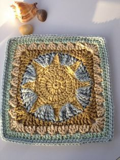 FREE crochet square pattern on Ravelry. Need to search site for pattern Free Crochet Square, Crochet Blocks, Granny Square Crochet Pattern, Crochet Squares, Granny Square Afghan, Crochet Crafts, Crochet Yarn, Crochet Projects, Crochet Motifs