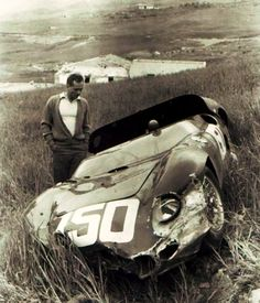 1962 .. Targa Florio , entered by SEFAC Ferrari , driven by Hill / Gendebien , didn't start due to this accident during practice .
