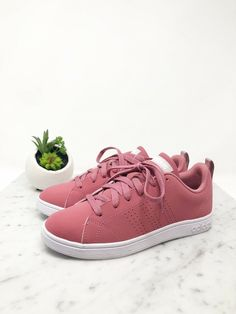 more photos 8d752 51d93 (eBay link) Adidas VS ADVANTAGE CL Trace Maroon White Tennis Women s  Sneakers Size 6 NWT  fashion  clothing  shoes  accessories  womensshoes   athleticshoes