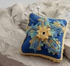 irish crochet pin cushion