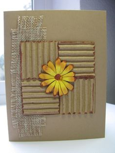 WT427 Burlap and Daisy by queenoe - Cards and Paper Crafts at Splitcoaststampers