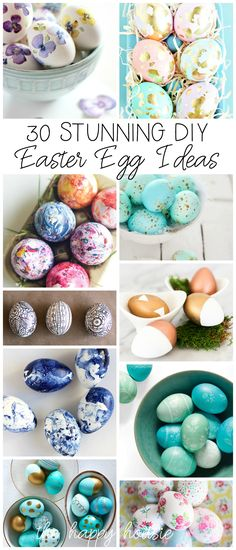 30 Stunning DIY Easter Egg Decorating Ideas