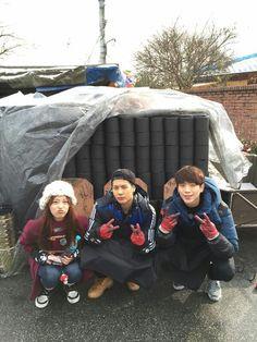 Youngji, Jackson, and Kangjun
