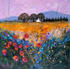 Late Harvest Poppies by British Contemporary Artist Deborah Phillips