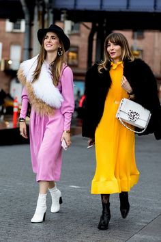 Attendees at New York Fashion Week Fall 2018 - Street Fashion